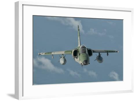 Brazilian Air Force Amx in Flight over Brazil-Stocktrek Images-Framed Art Print