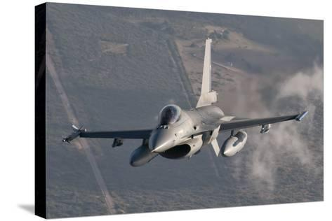 Chilean Air Force F-16 in the Air over Brazil-Stocktrek Images-Stretched Canvas Print
