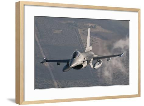 Chilean Air Force F-16 in the Air over Brazil-Stocktrek Images-Framed Art Print