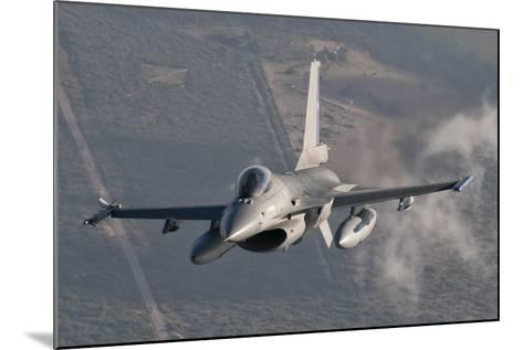 Chilean Air Force F-16 in the Air over Brazil-Stocktrek Images-Mounted Photographic Print