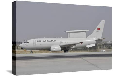 A Turkish Air Force Boeing 737 Airborne Early Warning and Control Aircraft-Stocktrek Images-Stretched Canvas Print
