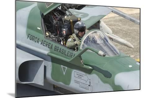 A Pilot Sitting in the Cockpit of a Brazilian Air Force F-5 Aircraft-Stocktrek Images-Mounted Photographic Print