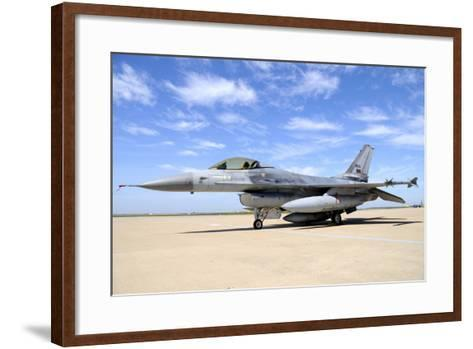 F-16A Falcon from the Portuguese Air Force at Moron Air Base, Spain-Stocktrek Images-Framed Art Print