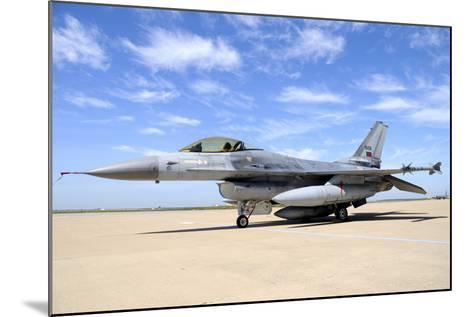 F-16A Falcon from the Portuguese Air Force at Moron Air Base, Spain-Stocktrek Images-Mounted Photographic Print