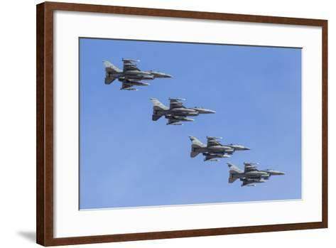 Four U.S. Air Force F-16C Fighting Falcons in Echelon Formation-Stocktrek Images-Framed Art Print