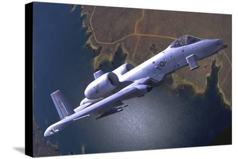 A U.S. Air Force A-10 Thunderbolt During a Demo Flight-Stocktrek Images-Stretched Canvas Print