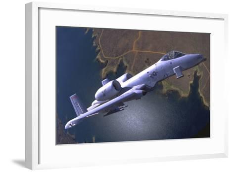 A U.S. Air Force A-10 Thunderbolt During a Demo Flight-Stocktrek Images-Framed Art Print