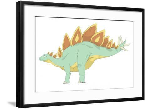 Stegosaurus Pencil Drawing with Digital Color-Stocktrek Images-Framed Art Print