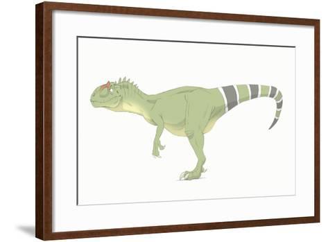 Allosaurus Pencil Drawing with Digital Color-Stocktrek Images-Framed Art Print