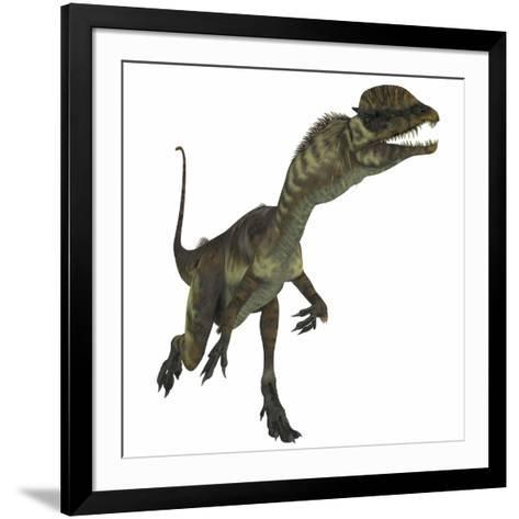 Dilophosaurus Dinosaur-Stocktrek Images-Framed Art Print