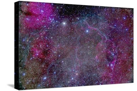 Vela Supernova Remnant in the Center of the Gum Nebula Area of Vela-Stocktrek Images-Stretched Canvas Print