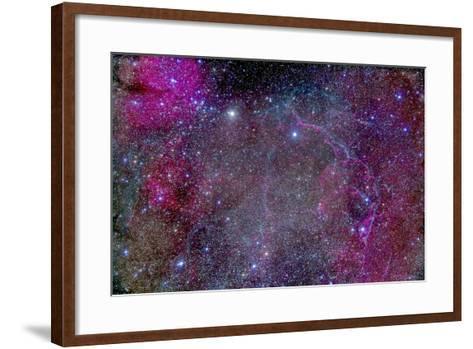 Vela Supernova Remnant in the Center of the Gum Nebula Area of Vela-Stocktrek Images-Framed Art Print