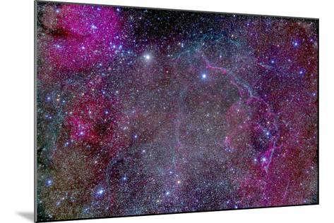 Vela Supernova Remnant in the Center of the Gum Nebula Area of Vela-Stocktrek Images-Mounted Photographic Print