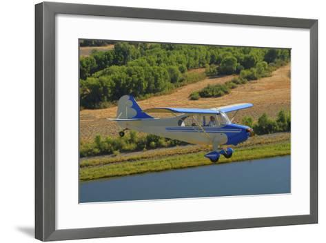 Aeronca 7Ac Champion Aircraft Flying over Chico, California-Stocktrek Images-Framed Art Print