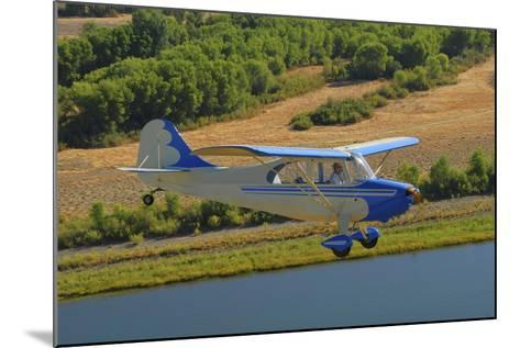 Aeronca 7Ac Champion Aircraft Flying over Chico, California-Stocktrek Images-Mounted Photographic Print