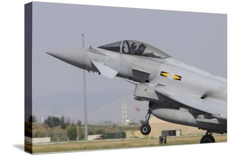 A Royal Air Force Eurofighter Ef2000 Typhoon Taking Off-Stocktrek Images-Stretched Canvas Print