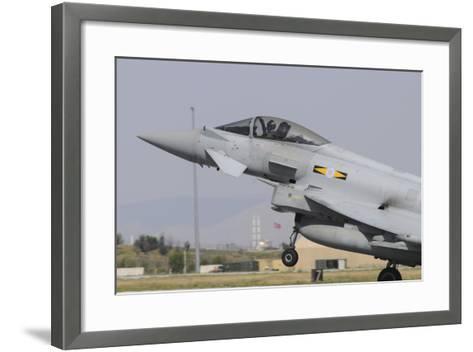 A Royal Air Force Eurofighter Ef2000 Typhoon Taking Off-Stocktrek Images-Framed Art Print