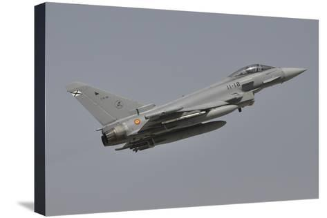 A Spanish Air Force Eurofighter Typhoon 2000 Taking Off-Stocktrek Images-Stretched Canvas Print