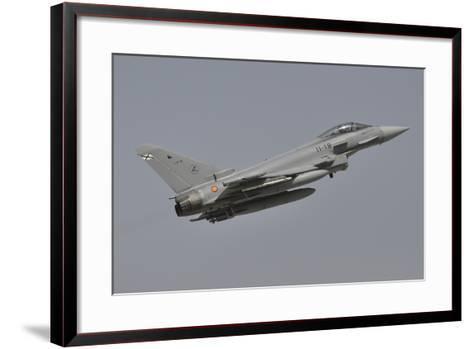 A Spanish Air Force Eurofighter Typhoon 2000 Taking Off-Stocktrek Images-Framed Art Print