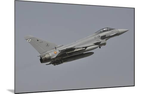 A Spanish Air Force Eurofighter Typhoon 2000 Taking Off-Stocktrek Images-Mounted Photographic Print