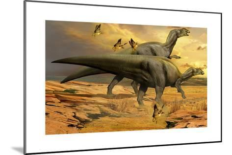 A Pair of Willinakaqe Dinosaurs from the Late Cretaceous of Argentina-Stocktrek Images-Mounted Art Print