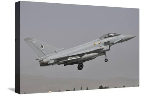 A Eurofighter Typhoon Fgr4 of the Royal Air Force Prepares for Landing-Stocktrek Images-Stretched Canvas Print