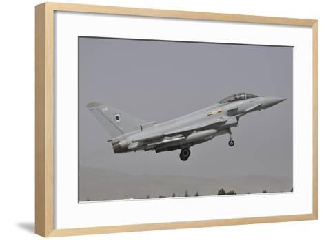 A Eurofighter Typhoon Fgr4 of the Royal Air Force Prepares for Landing-Stocktrek Images-Framed Art Print