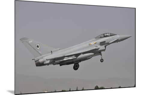 A Eurofighter Typhoon Fgr4 of the Royal Air Force Prepares for Landing-Stocktrek Images-Mounted Photographic Print