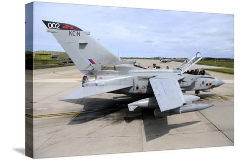 Tornado Gr4 of the Royal Air Force at Raf Lossiemouth-Stocktrek Images-Stretched Canvas Print