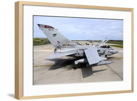 Tornado Gr4 of the Royal Air Force at Raf Lossiemouth-Stocktrek Images-Framed Art Print