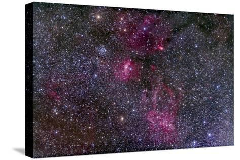 Messier 52 and the Bubble Nebula in Cassiopeia-Stocktrek Images-Stretched Canvas Print