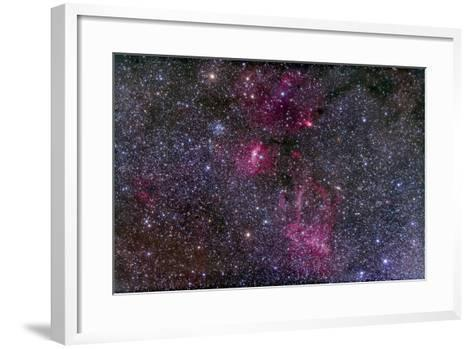 Messier 52 and the Bubble Nebula in Cassiopeia-Stocktrek Images-Framed Art Print