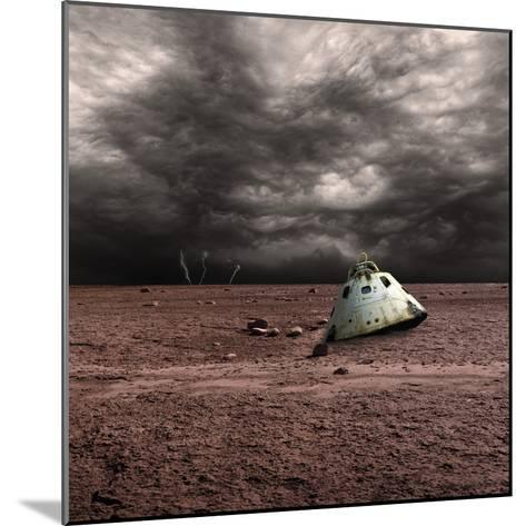 A Scorched Space Capsule Lies Abandoned on a Barren World-Stocktrek Images-Mounted Photographic Print