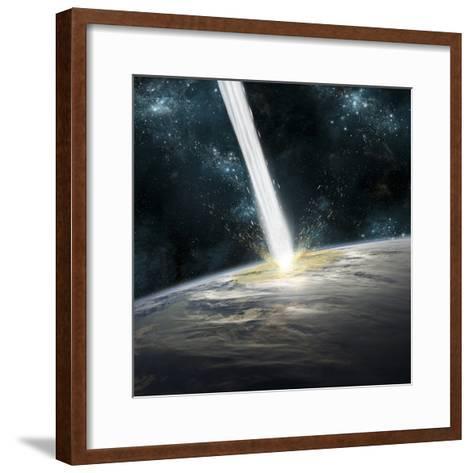 A Comet Strikes Earth-Stocktrek Images-Framed Art Print