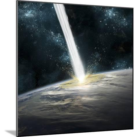 A Comet Strikes Earth-Stocktrek Images-Mounted Photographic Print