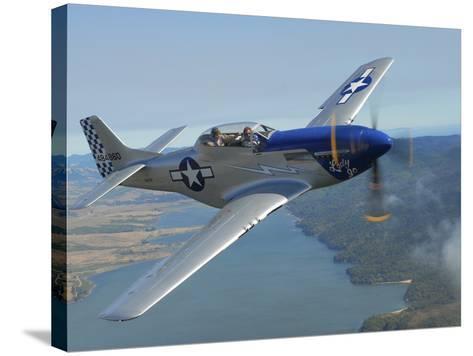 A Tf-51 Mustang in Flight Near Santa Rosa, California-Stocktrek Images-Stretched Canvas Print