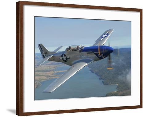 A Tf-51 Mustang in Flight Near Santa Rosa, California-Stocktrek Images-Framed Art Print