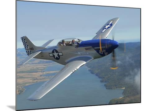 A Tf-51 Mustang in Flight Near Santa Rosa, California-Stocktrek Images-Mounted Photographic Print