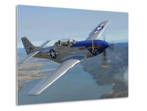 A Tf-51 Mustang in Flight Near Santa Rosa, California-Stocktrek Images-Metal Print