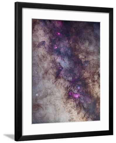 The Milky Way around the Small Sagittarius Star Cloud-Stocktrek Images-Framed Art Print