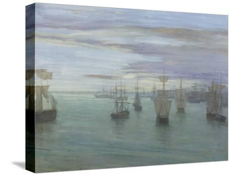 Crepuscule in Flesh Colour and Green: Valparaiso-James Abbott McNeill Whistler-Stretched Canvas Print