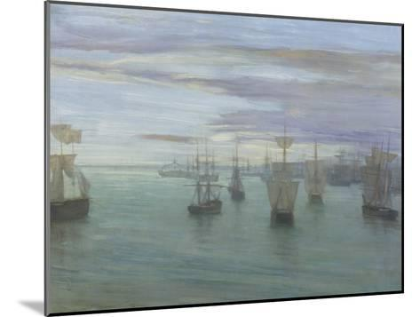 Crepuscule in Flesh Colour and Green: Valparaiso-James Abbott McNeill Whistler-Mounted Giclee Print