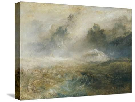 Rough Sea with Wreckage-J^ M^ W^ Turner-Stretched Canvas Print