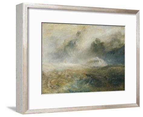 Rough Sea with Wreckage-J^ M^ W^ Turner-Framed Art Print