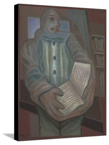 Pierrot with Book-Juan Gris-Stretched Canvas Print
