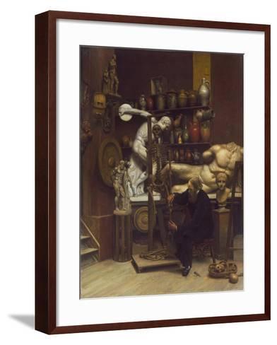 Mr Heatherley's Holiday: an Incident in Studio Life-Samuel Butler-Framed Art Print