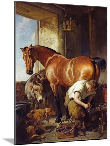 Shoeing-Edwin Henry Landseer-Mounted Giclee Print
