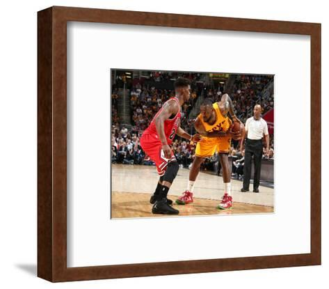 Chicago Bulls v Cleveland Cavaliers - Game Five-Nathaniel S Butler-Framed Art Print