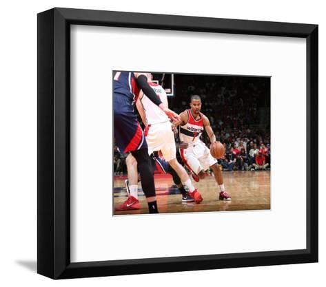 Atlanta Hawks v Washington Wizards - Game Four-Ned Dishman-Framed Art Print