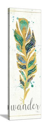 Waterfeathers II-Jess Aiken-Stretched Canvas Print
